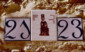 Maestrazgo Keramik-Hausnummer Patrona de La Iglesuela del Cid